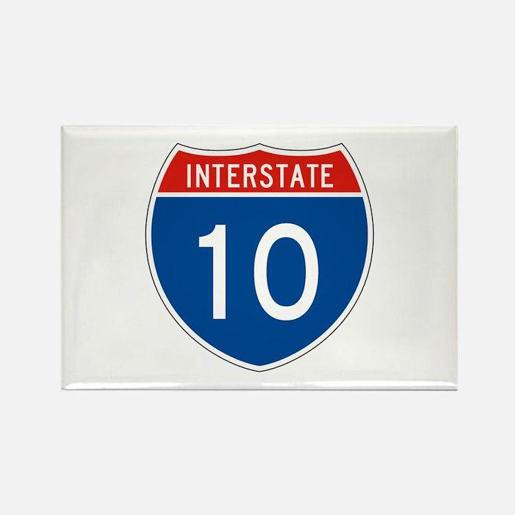 Interstate 10, USA Rectangle Magnet