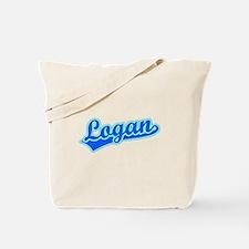 Retro Logan (Blue) Tote Bag