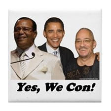 """""""Yes, We Con"""" Tile Coaster"""