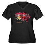 Awesome Racing 4 Women's Plus Size V-Neck Dark T-S