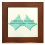 OVARIAN CANCER A WOMEN'S FIGHT Framed Tile