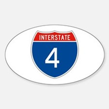 Interstate 4, USA Oval Decal