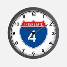 Interstate 4, USA Wall Clock