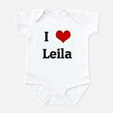 I Love Leila Infant Bodysuit