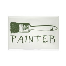 Painter Rectangle Magnet