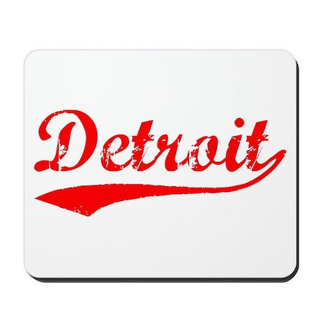 Vintage Detroit (Red) Mousepad