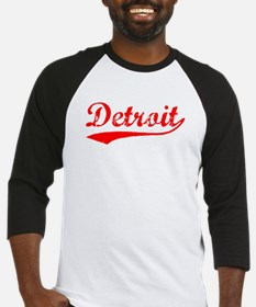 Vintage Detroit (Red) Baseball Jersey