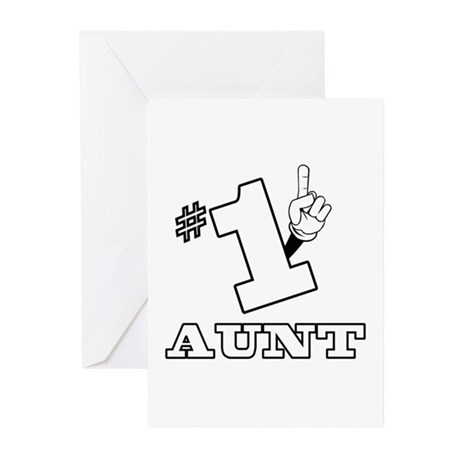 #1 - AUNT Greeting Cards (Pk of 10)