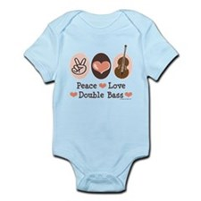 Peace Love Double Bass Infant Bodysuit