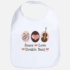 Peace Love Double Bass Bib