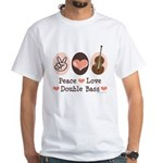 Peace Love Double Bass White T-Shirt