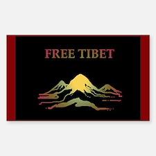 FREE TIBET Rectangle Decal