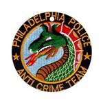 Philly Anti Gang PD Ornament (Round)