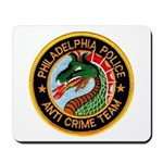 Philly Anti Gang PD Mousepad