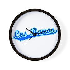 Retro Los Banos (Blue) Wall Clock