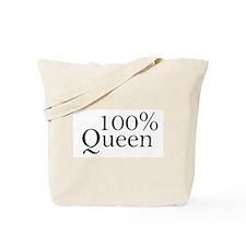 100% Queen Tote Bag