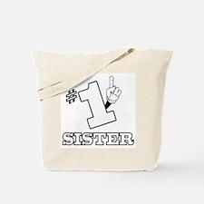 #1 - SISTER Tote Bag