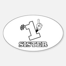 #1 - SISTER Oval Decal