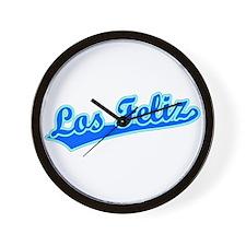 Retro Los Feliz (Blue) Wall Clock