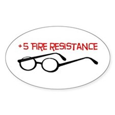 +5 Fire Resistance Decal