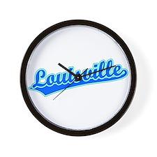 Retro Louisville (Blue) Wall Clock