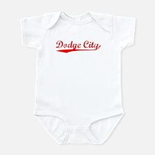 Vintage Dodge City (Red) Infant Bodysuit