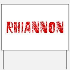 Rhiannon Faded (Red) Yard Sign