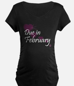 Due February Cascading Hearts T-Shirt