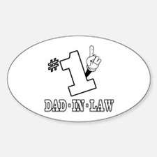 #1 - DAD-IN-LAW Oval Decal