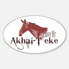 Akhal-Teke Lover Oval Decal