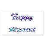Happy Dreamer Rectangle Sticker 50 pk)
