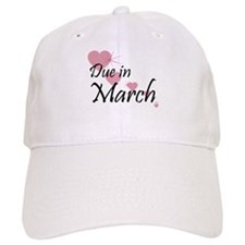 Due In March Cascading Hearts Baseball Cap