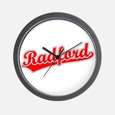 Retro Radford (Red) Wall Clock
