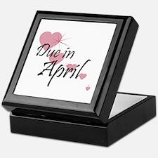 Due April Cascading Hearts Keepsake Box