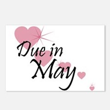 Due In May Cascading Hearts Postcards (Package of
