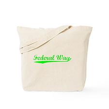 Vintage Federal Way (Green) Tote Bag