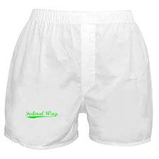 Vintage Federal Way (Green) Boxer Shorts