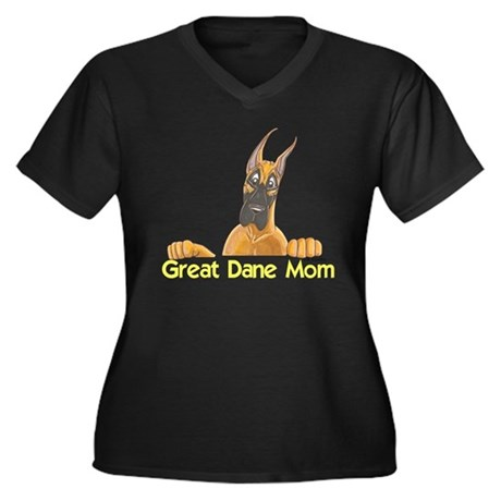 CFlo Great Dane Mom Women's Plus Size V-Neck Dark