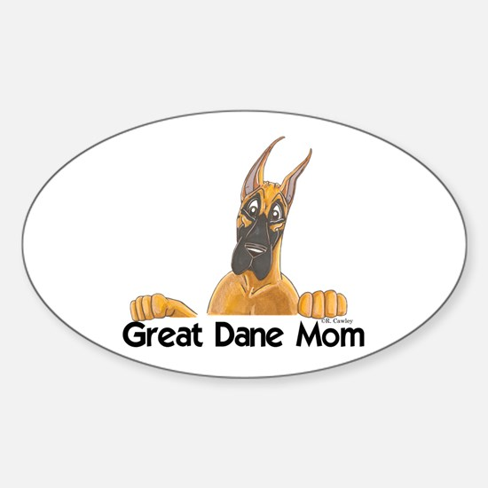 CFlo Great Dane Mom Oval Decal