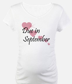 Due In September Cascading Hearts Shirt