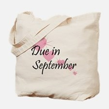 Due In September Cascading Hearts Tote Bag