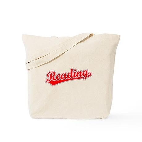 Retro Reading (Red) Tote Bag