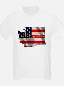 Cute Usa flag statue of liberty T-Shirt