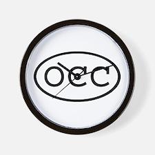 OCC Oval Wall Clock