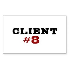 """""""Client #8"""" Rectangle Decal"""