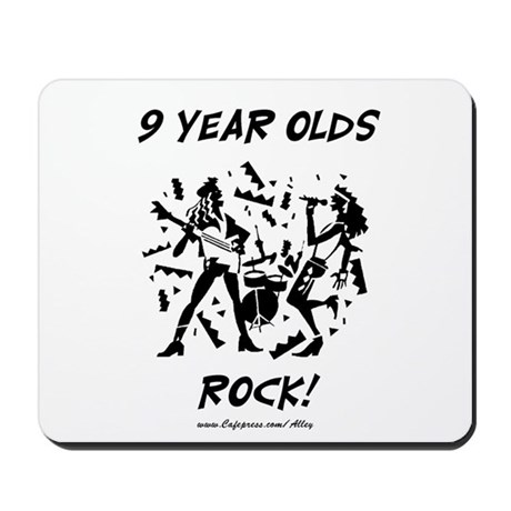 9 Year Olds Rock Mousepad