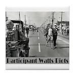Watts Riots Tile Coaster