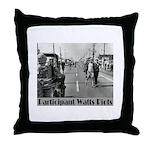 Watts Riots Throw Pillow