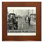 Watts Riots Framed Tile