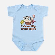 I Love My Turkish Angora Designs Infant Bodysuit